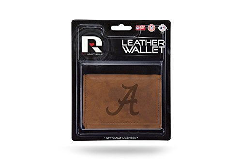 Rico NCAA Alabama Crimson Tide Leather Trifold Wallet with Man Made Interior by Rico