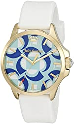 Juicy Couture Women's 1901427 Jetsetter Quartz Gold-Tone and White Watch