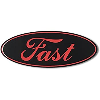 Domed FAST FORD ECOBEAST emblem ecoboost eco boost turbo Car Sticker 3D 5.5