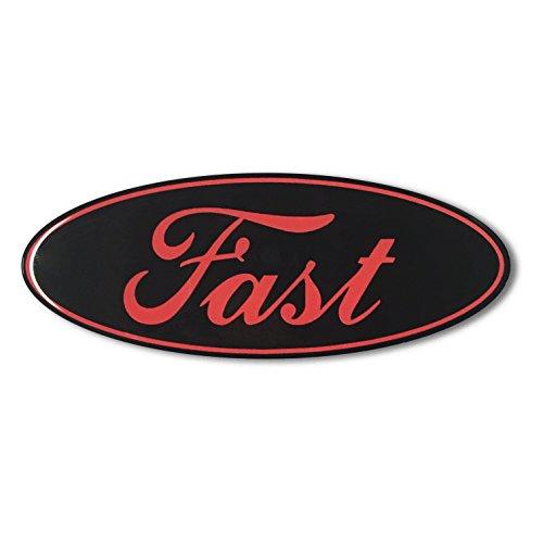 Domed FAST FORD ECOBEAST emblem ecoboost eco boost turbo Car Sticker 3D 5.5
