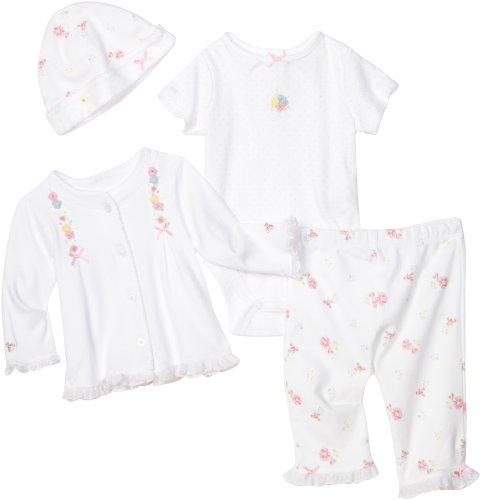 Little Me Baby-girls Newborn Belle 4 Piece Take Me Home Set Pant Set