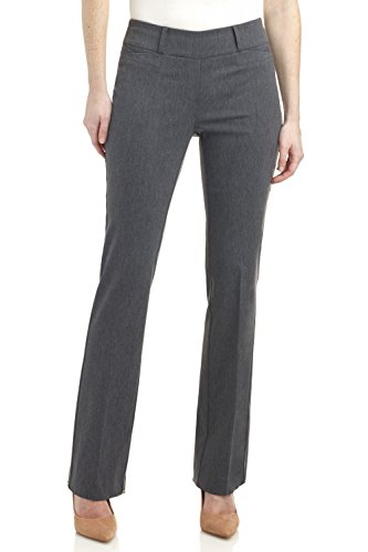 Rekucci Women's ''Ease In To Comfort Fit'' Barely Bootcut Stretch Pants (18,Charcoal) by Rekucci (Image #1)