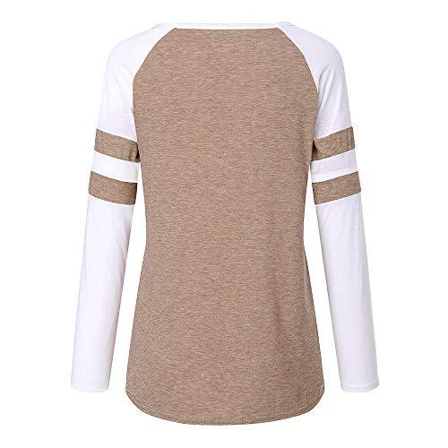 Rond No Top Femme de Shirt col Rennes Applique Paillettes Kaki T imprim kingwo l de wnqZ0O4xwg