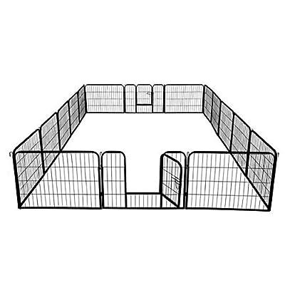 Superday Decorative Garden Fence Heavy Duty Pet Dog Playpen Pet Foldable Exercise Fence