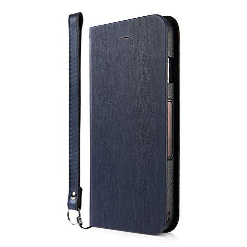 足パスポート魅了するSimplism iPhone X 手帳型 ケース [FlipNote Slim] 自動 ON / OFF 対応ケース ヘアラインネイビー TR-IP178-FNSS-HNV