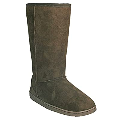 DAWGS Womens 13 Inch Microfiber Faux Shearling Vegan Winter Boots