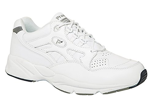 Price comparison product image Propet Women's W2034 Stability Walker Sneaker, White, 8.5 W (US Women's 8.5 D)