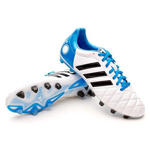 adidas Bota adipure 11Pro TRX FG Blanca-Solar blue  Amazon.es  Zapatos y  complementos bb66618293b40