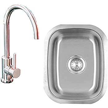 Outdoor Kitchen Stainless Steel Two Hole Sink and Faucet - - Amazon.com