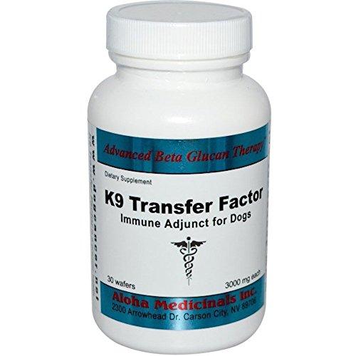 Aloha Medicinals - K9 Transfer Factors - Natural Immune Support for Dogs - 30 Wafers (Pet Premier Liver)