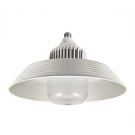 Bombillas LED E27 E40 de 100 W de larga vida con ventilador de refrigeración y reflector blanco frío: Amazon.es: Iluminación