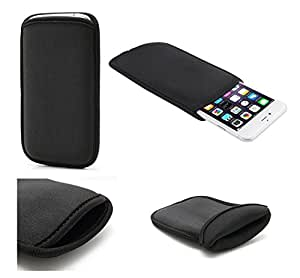 DFV mobile - Neoprene waterproof bag soft pouch case cover > mpie s5, color negro