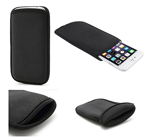 DFV mobile - Neoprene waterproof bag soft pouch case cover >     apple iphone 5c, color black