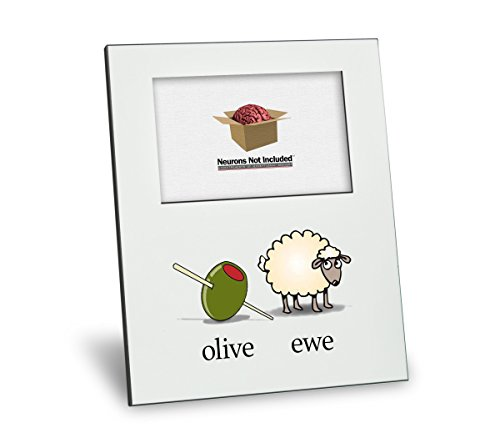 Olive Ewe (I Love You) Picture Frame - Personalization Available - 8x10 Frame - 4x6 Picture - Gloss White Finish