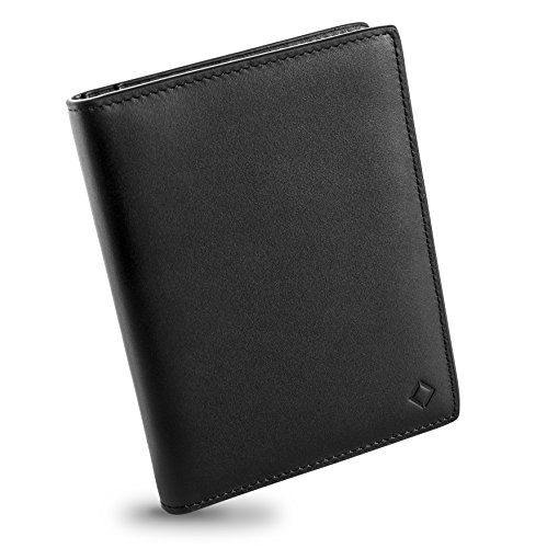 EGNT RFID Carbon Travel Wallet Passport Holder Cover Sleeve Case Genuine Leather Slim (Transit Cover - (Leather Transit Case)