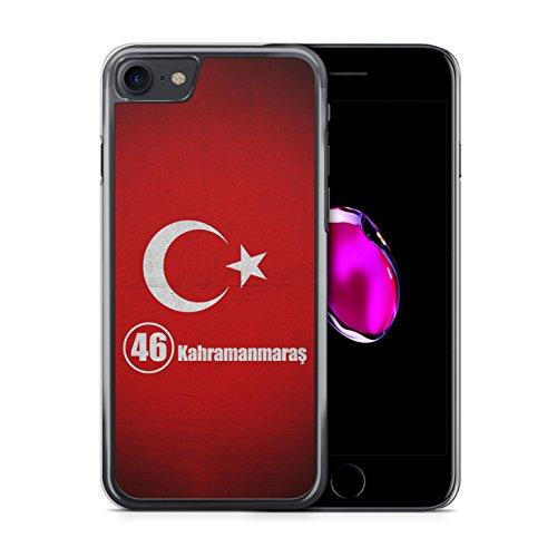 Kahramanmaras 46 Türkiye Türkei iPhone 7 Hardcase Hülle Cover Case Handyhülle Tasche Turkey Bayrak
