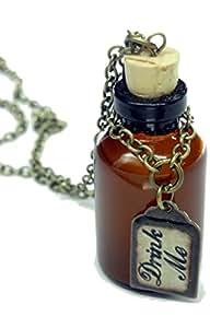 Fallen saint - Collar botella bébeme de alicia en el país de las maravillas