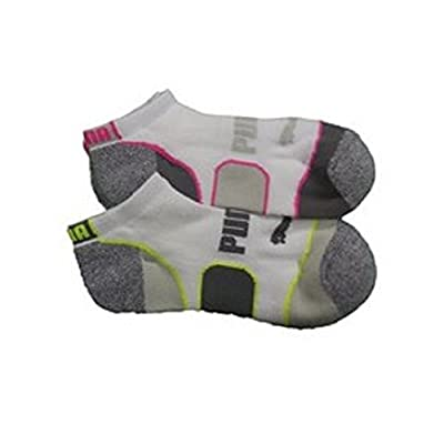 3837c7097bb Puma Ladies  No-Show Sock 6-pair White Pink Blue Shoe Size 5-9.5 ...