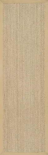 "nuLOOM Elijah Seagrass Natural Runner Rug, 2' 6"" x 8', Beige - Made in China PREMIUM NATURAL FIBERS: This rug is crafted with sustainable 100% Seagrass, a fiber that perfects a coastal-cool look SLEEK LOOK: Doesn't obstruct doorways and brings elegance to any space - runner-rugs, entryway-furniture-decor, entryway-laundry-room - 41cLEDsXOfL -"