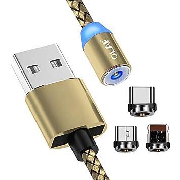 OLAF - Cable de Carga magnético USB Tipo C con luz LED ...