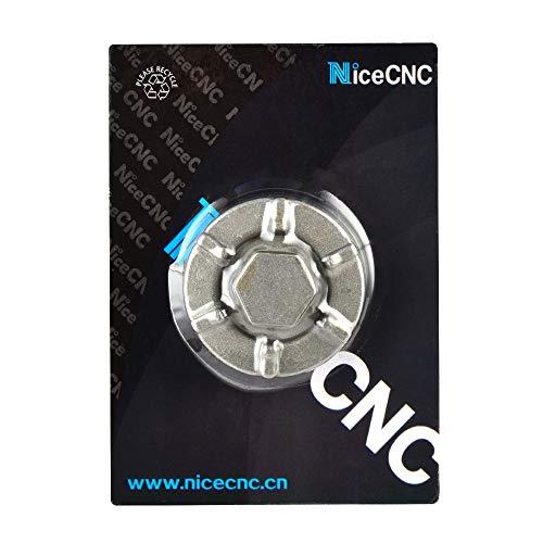 Nicecnc Oil Drain Plug Cover Replace Yamaha Warrior Raptor 350 Wolverine Big Bear 350 400,Grizzly 400 450 600,YFM350 YFM350X,Kodiak 400 450(See Fitment)