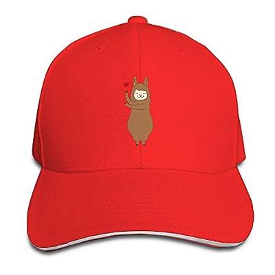 Fenme Alpaca Llama Unisex Sandwich Caps Cartoon Snapback Hats Funny Trucker Hats Fashion Snapback Cap