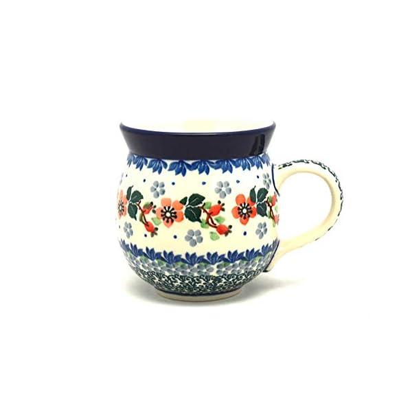 Polish Pottery Mug – 11 oz. Bubble – Cherry Blossom