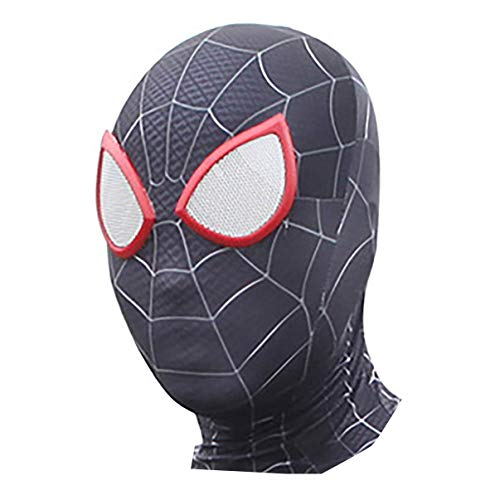 DAELI Into Spider-Verse Costume Miles Morales Costume (Miles MASK, Kids Size) -