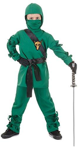 Underwraps Child Ninja (Green Ninja Halloween Costumes)