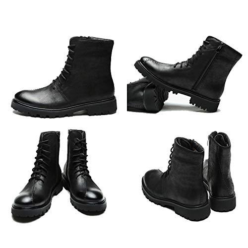 Pelle in Stivali Casual Foderati in Stivali da Stivali Chelsea Black da Vintage Pelle Lavoro Stivali Uomo Smart Martin Antinfortunistici 7vFxqwCB
