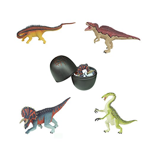 Assorted 4pcs/set of Ukenn Generation 3d Dinosaur Puzzles Block Therizinosaurs Triceratops Diplodocus Acrocanthosaurus DIY Dino Egg Kids Educational Toy 7266 - 3d Puzzle Block