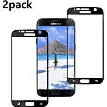 [2Pack] Galaxy S7 Tempered Glass Screen Protector,[Clear][Case Friendly] 9H Hardness,Bubble Free [Scratch Proof] Screen Protector Compatible with Samsung Galaxy S7