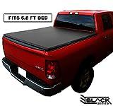 Black Series Premium Soft Trifold Tonneau Pickup Truck Box Cover (Fits 2004-2019 Chevy/GMC Silverado/Sierra LD LT 1500 5.8 Feet (69.3 Inches / 1.7 Metres) Short Bed Box Size)