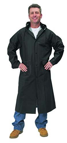 (Galeton 7970-L-BK Repel Rainwear PVC Raincoat, 0.35 mm, 48