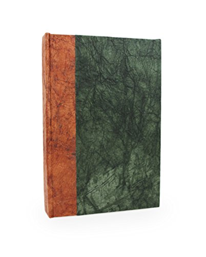 Nepali Eco Journal with Vintage Lokta Paper. Hand-made Writing Notebook from Nepal. (5x8