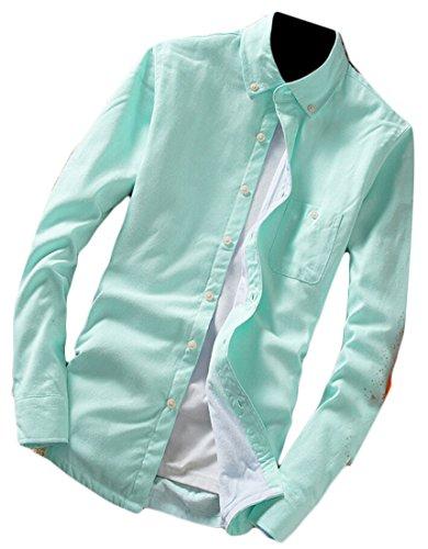M&S&W Men's Fashion Thick Plaid Long Sleeve Button Down Shirt 16