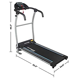 Confidence Fitness TP-1 Electric Treadmill Folding Motorised Running Machine