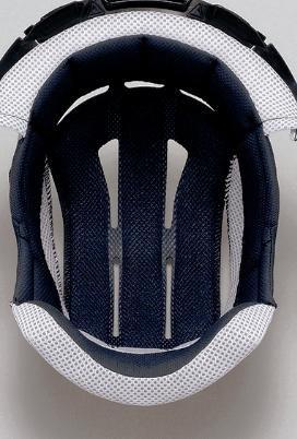 Shoei Hornet/VFX-DT Center Pad Off-Road Motorcycle Helmet Accessories - Black/Small