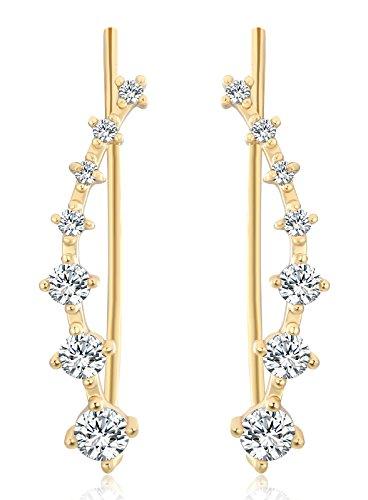 Osiana Crystal Climber Earrings Earring
