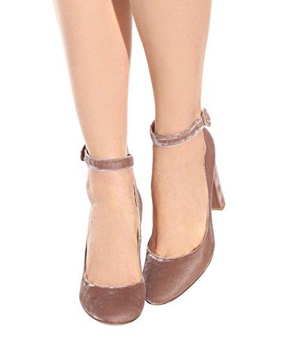 Boda de y Color Zapatos Tacones Mujer Negocios de Aguja Estilo Verano Segundo Fiesta con Tamaño Nacional Formales de Gamuza Punta Xue Zapatos Wor Segundo 35 Noche Primavera Vestido CqZwg5gx
