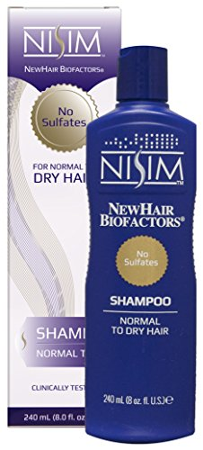 Nisim Hair Stimulating Extract - NISIM NewHair BioFactors Shampoo for Normal To Dry Hair - Deep Cleaning Shampoo That Controls Excessive Hair Loss (8 Ounce / 240 Milliliter)