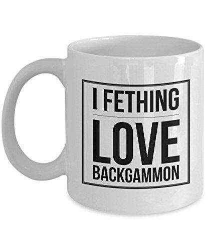 (Backgammon Mug - I Fething Love Backgammon)