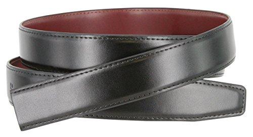 Men's Reversible Genuine Leather Dress Casual Belt Strap 1-1/8' wide