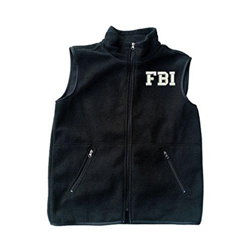 FBI Federal Bureau of Investigation Black Fleece Zipped Vest with Pocket L