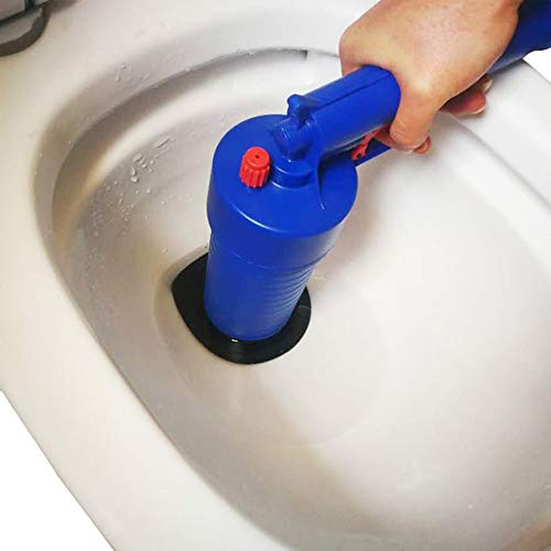Mouchao High Pressure Air Drain Blaster Cleaner Toilets Drain Cleaner with 4 Adapters
