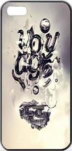 Voyage Typography Apple iPhone 5/5s SLIM Case Carcasa [SF Matte Black (negro)] SUPER SLIM + SF COATED + PERFECT FIT Caso duro Premium Funda Cáscara Caso Cubrir