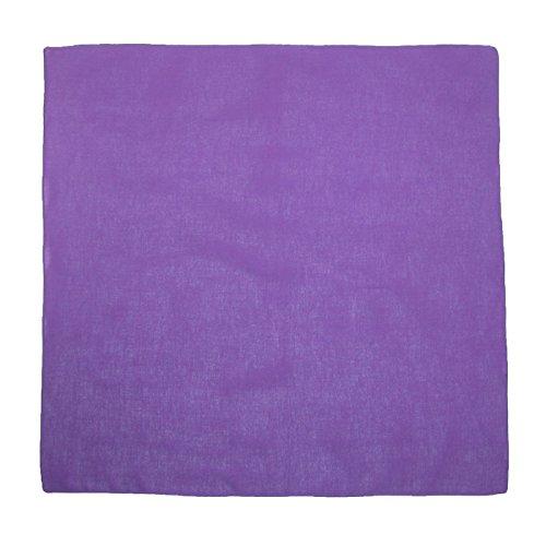 CTM Cotton Solid Color Bandanas, Dark Purple