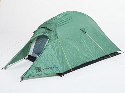 Skandika Firstzelt Banff Trek komfortables 2 Personen Trekkingzelt mit 3000 mm Wassersäule, Oliv, 16060