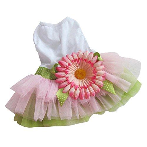 Lookatool Dog Gauze Tutu Dress Skirt Pet Dog Cat Princess Clothes Bowknot Dress (Cat Tutu)