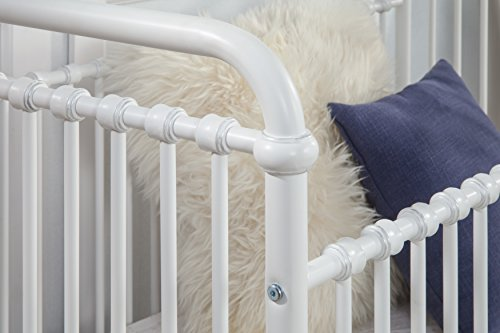 Million Dollar Baby Classic Abigail 3-in-1 Convertible Iron Crib,  Washed White by Million Dollar Baby Classic (Image #4)